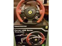 Xbox 1 Ferrari 458 Thrustmaster Steering Wheel and Pedals