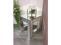 BRAND NEW Lucia Mirrored Side Table Medium