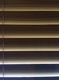 Venetian wood effect blinds for bay window £15