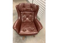 German made chair and two seater sofa date 1973