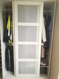 ++++For SALE+++++Wardrobe Sliding doors (KVIKNE Wardrobe with 2 sliding doors)