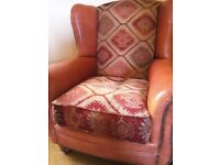 Attractive Part Leather Tetrad Armchair