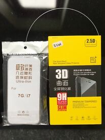 iPhone screen protector and case