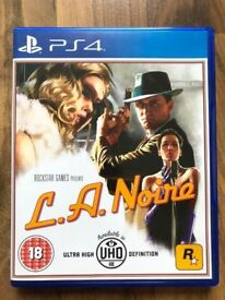 la noire , ps4 , as New ! Price stands , no offers !