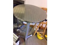 Solid high cafe dining table
