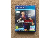 Pro evolution soccer 2018 for the PlayStation 4