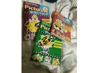Set of 3 Puzzle Books, New
