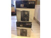 Adam A5X studio monitors