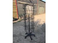 Winchester Black Metal Rotating Magazine Rack Stand