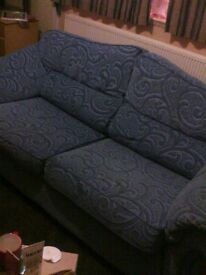 3 seater settee and matching chair etc cond