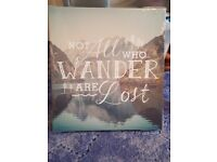 ***WALL PLAQUE WITH QUOTE ON IT. NEW! NEVER BEEN OPENED! GOOD FOR BEDROOM DECORATION!!***