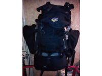 Hi-Tec rucksack backpack adjustable back hiking travel holiday