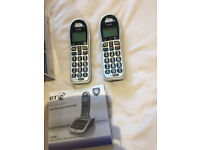 BT 4500 Twin Digital Cordless Phones Big Button with Answer Machine