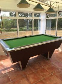 Slate pool/snooker table