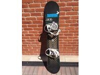 Ride Snowboard with Bindings, 143cm, S Bindings