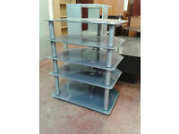 5 tier glass unit