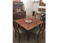 Victorian Winding Dining Table with 4 Chairs