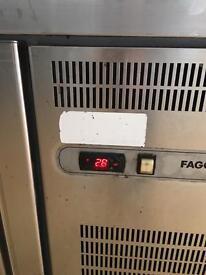 Fagor double undercounter fridge