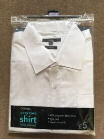 George long sleeved white shirt, collar 17,new,£2.50