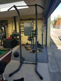 Fitness gym pull up dip tower