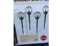 New boxed attractive bright garden lights