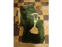 Green velvet large door (or window) curtain