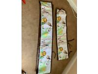 Breathable baby cot liner