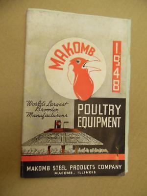 1946 Makomb Steel Prod. Co Poultry Equipment Catalog Macomb Illinois Vintage