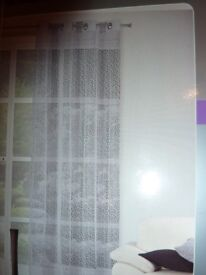 Beautiful grey curtains