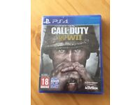 Call of duty WWII PS4 game brand new and sealed