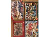 Christmas themed jigsaws - used