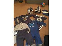 Baby boy converse clothing job 3-6 (clothing) 0-12 (shoes)