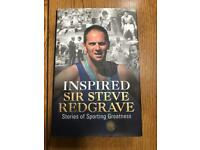 Signed hardback copy of Inspired book by Steve Redgrave - Olympic Rowing