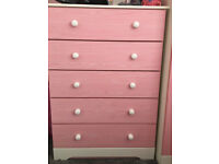Beautiful Bedroom Furniture with Pink doors and drawers