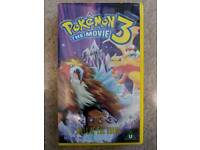 Pokémon the movie 3: Spell of the Unknown VHS