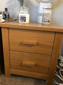 Two bed side dressing tables