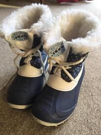Child's Snow Boots, size 11/Eur30 with faux fur lining