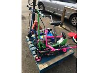 6 electric razor scooters spairs or repairs
