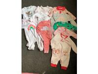Baby girl baby grow bundle