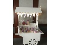 Candy sweet cart hire £50 without sweets £75 with sweets lights banner sweet bags ect all occassions