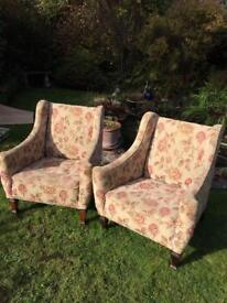 A pair of Beautiful old Armchairs