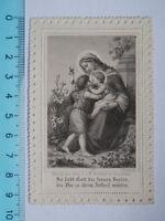 Vecchio Santino Holy Card Madonna Bambino Merletto -  - ebay.it
