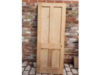 Internal 4 panelled oak door