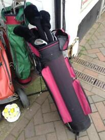 Peter alliss series 3 golf clubs set trolley