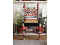 Beautiful Handmade, Hand Painted Wooden Chair