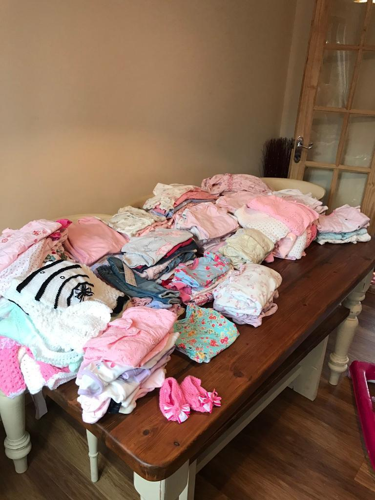 Bundle of girls baby clothes
