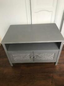 Upcycled solid tv unit