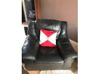 Black comfy armchair