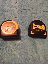 stenley 2 for 20£ 1 for 10£ tape measure