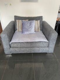 Sofology 3 seater sofa and snuggle chair